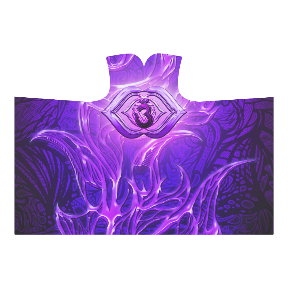 Third Eye Chakra Anja Hooded Blanket 80''x56''