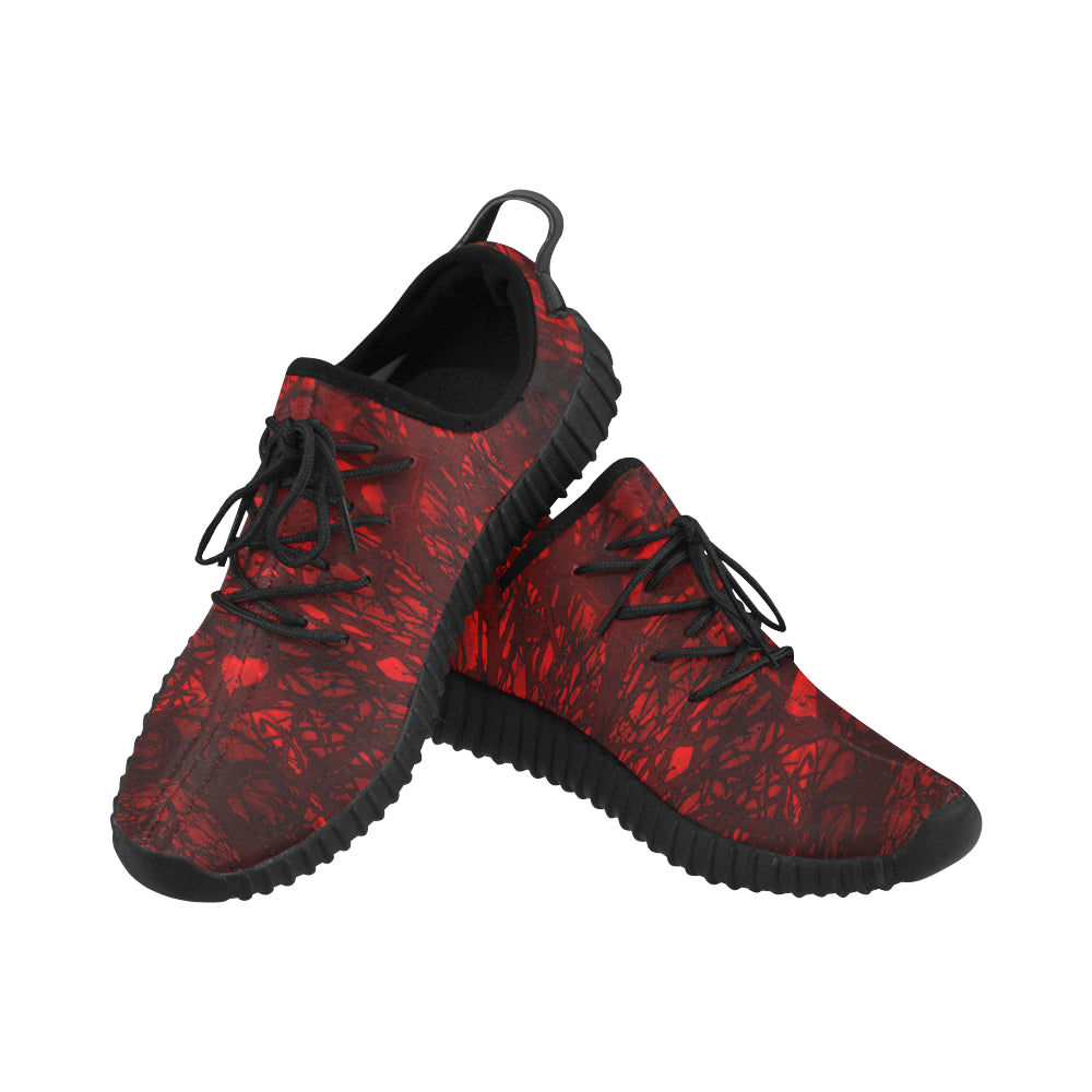 Red Carnage Blood Vein Grus WOMEN'S Breathable Woven Running Shoes