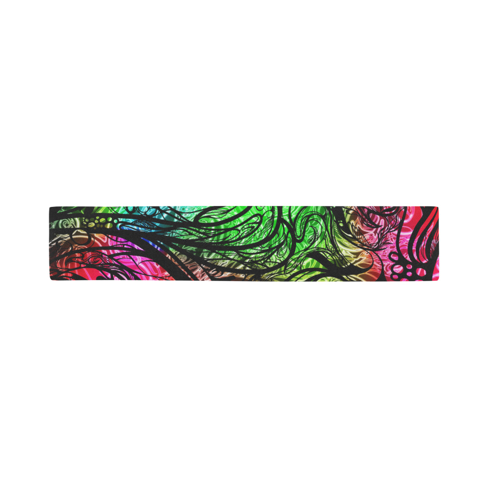 Zen Doodle Chromatic Chaos Scarves 12''x62'' Single Sided Print