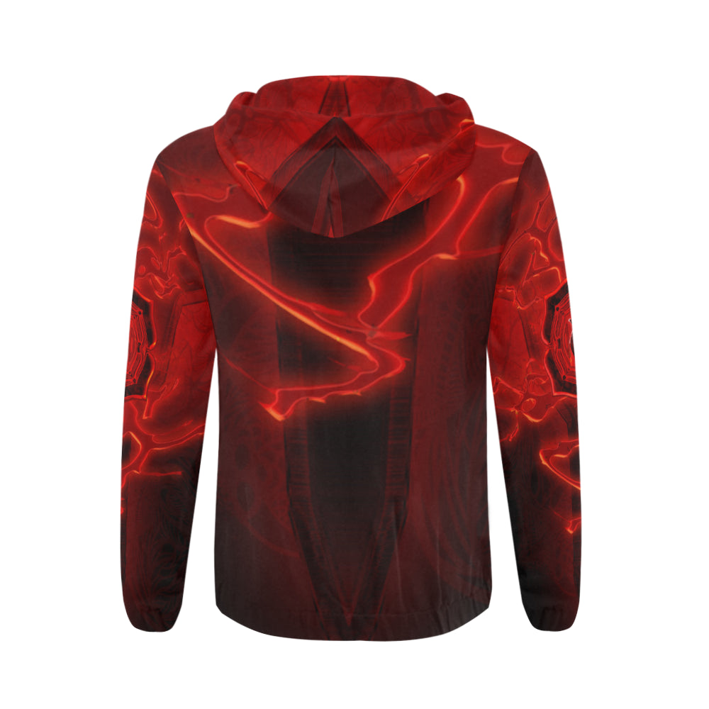 Root Chakra Muladhara All Over Print Full Zip Hoodie