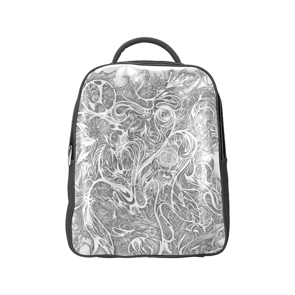 Zen Doodle Snow White Ornate Popular Backpack