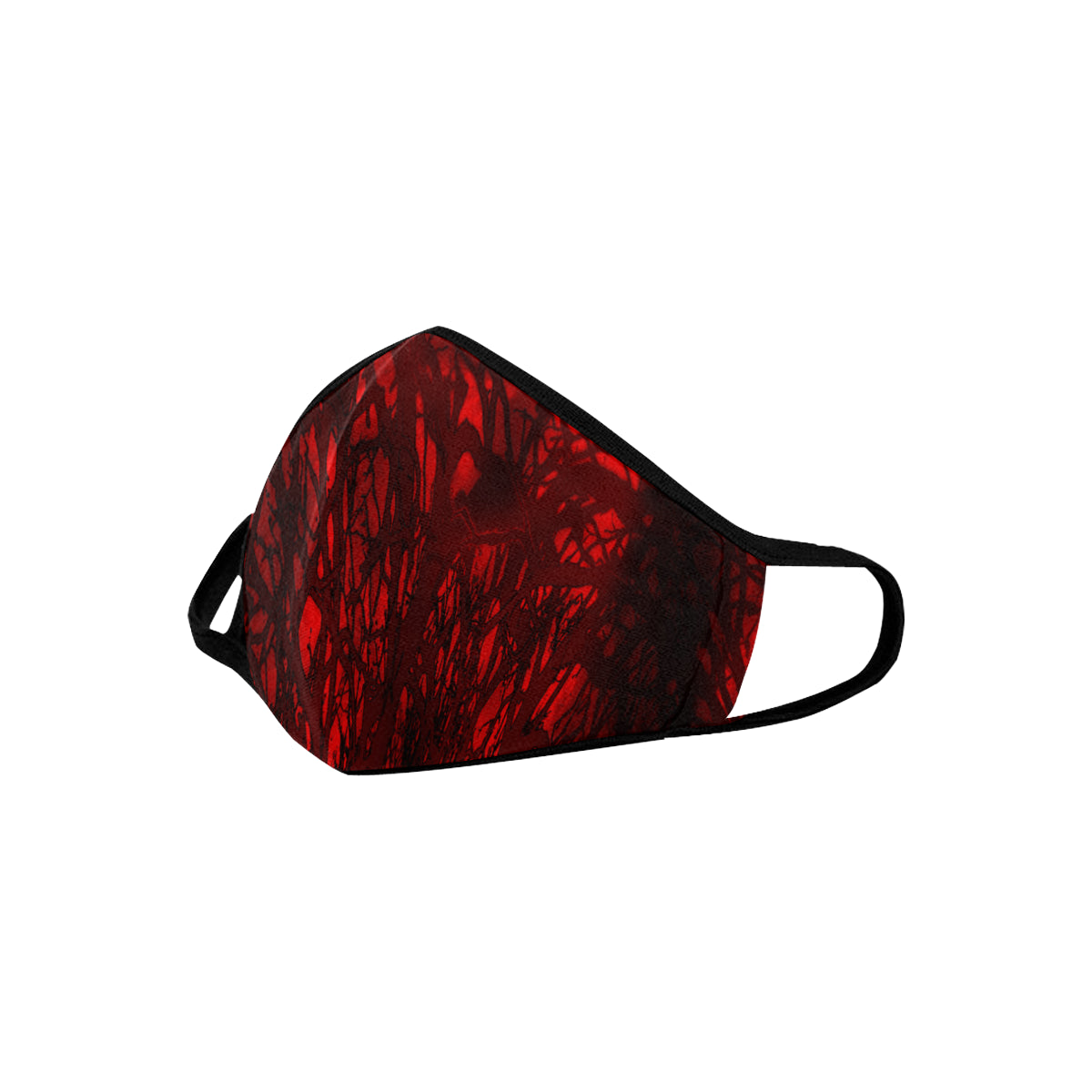 Red Carnage Blood Vein Goth Vampire Mouth Mask