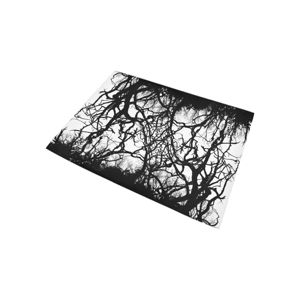 Dead Tree Black Roots Area Rug 5'3''x4'