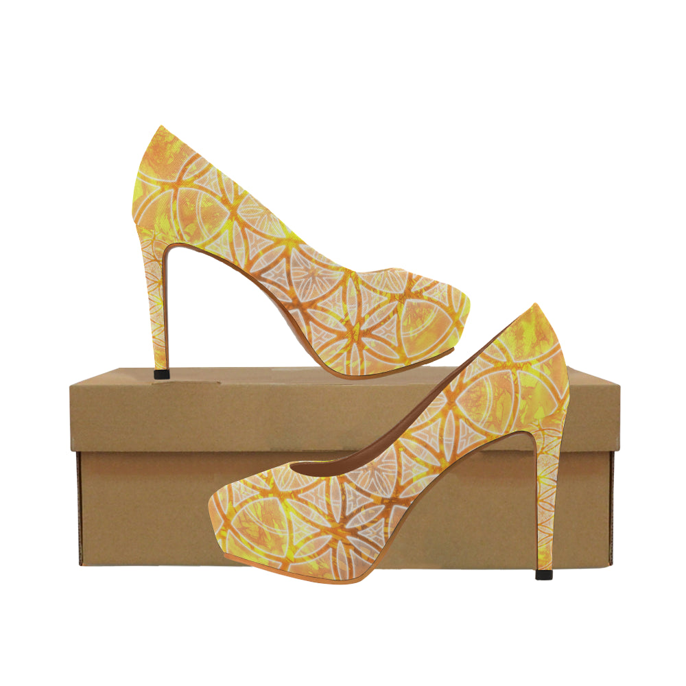 Flower of Life - Fire WOMEN'S High Heels