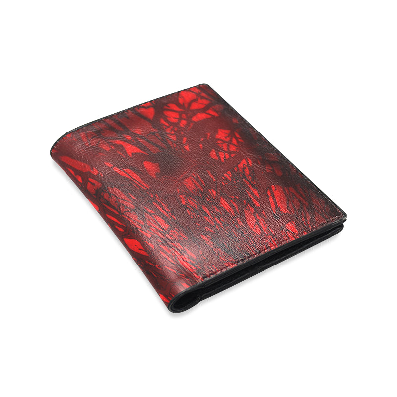 Red Carnage Blood Vein Men's Leather Wallet