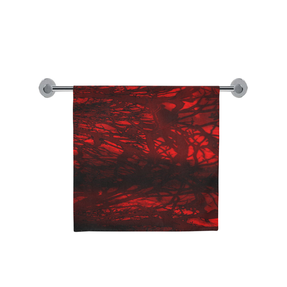 "Red Carnage Blood Vein Bath Towel 30""x56"""