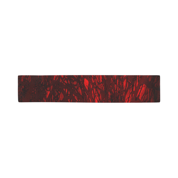 Red Carnage Blood Vein Scarves 12''x62'' Single Sided Print