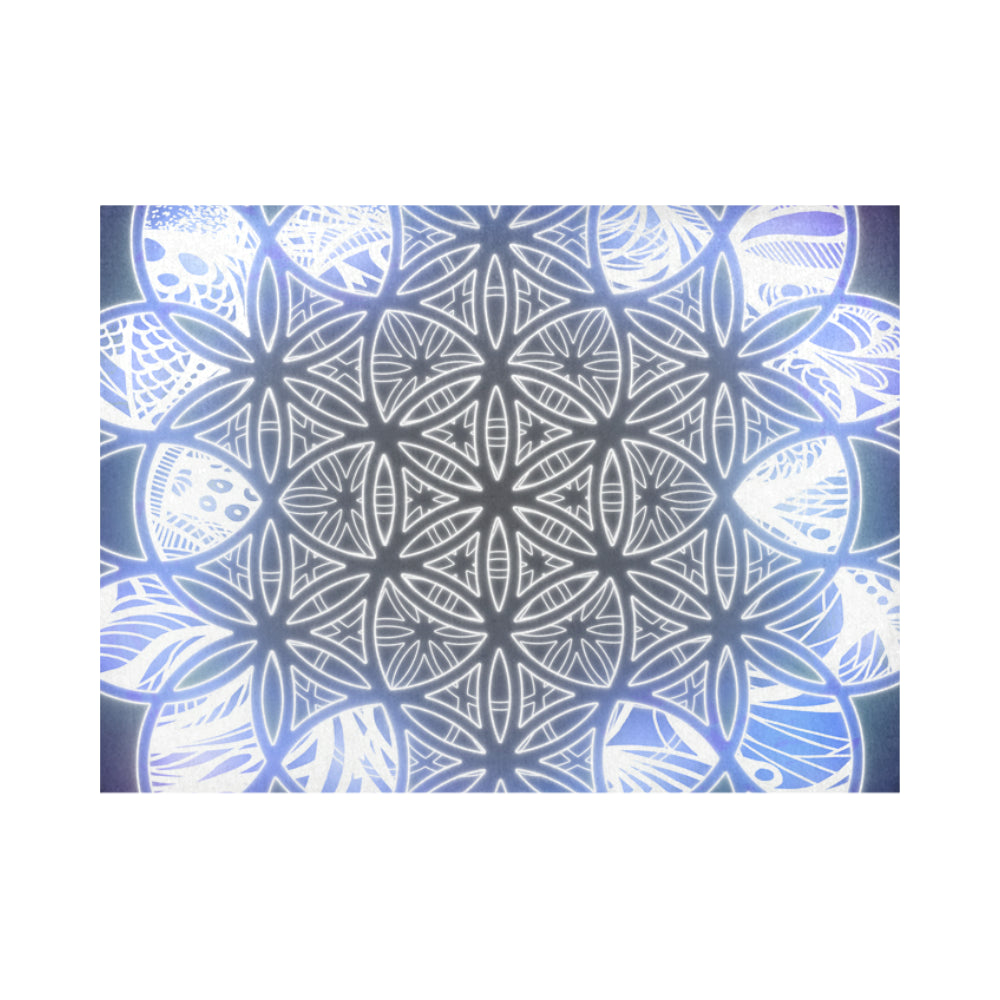 Flower of Life - Ice Placemat 14'' x 19'' (Six Pieces)