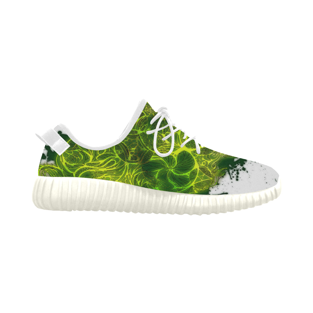 Zen Doodle Lemon Lime Grus WOMEN'S Breathable Woven Running Shoes