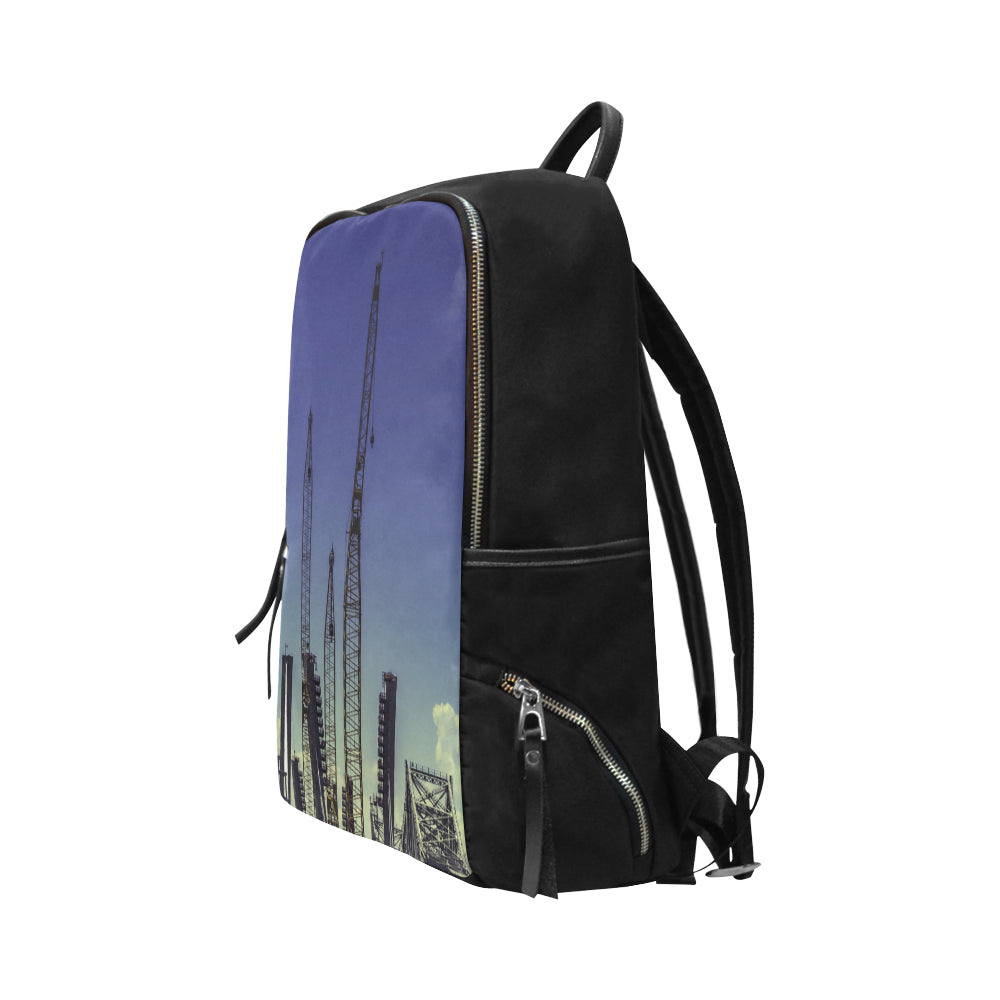 Building 7899 Unisex Slim Backpack