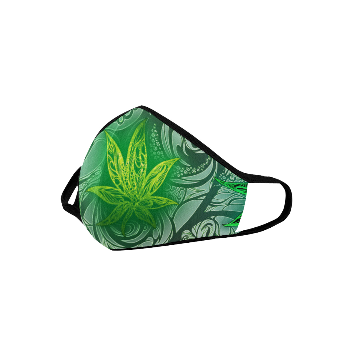 Weed Leaf White Mouth Mask