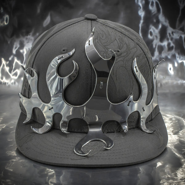 Aluminum Flame Crown Hat