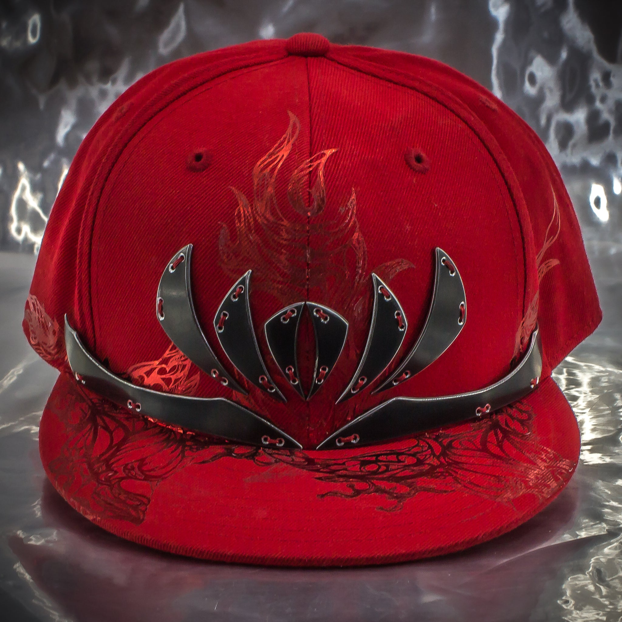 Aluminum Black Lotus Crown Hat