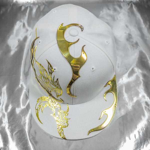 Brass Golden Flames Ornate Hat