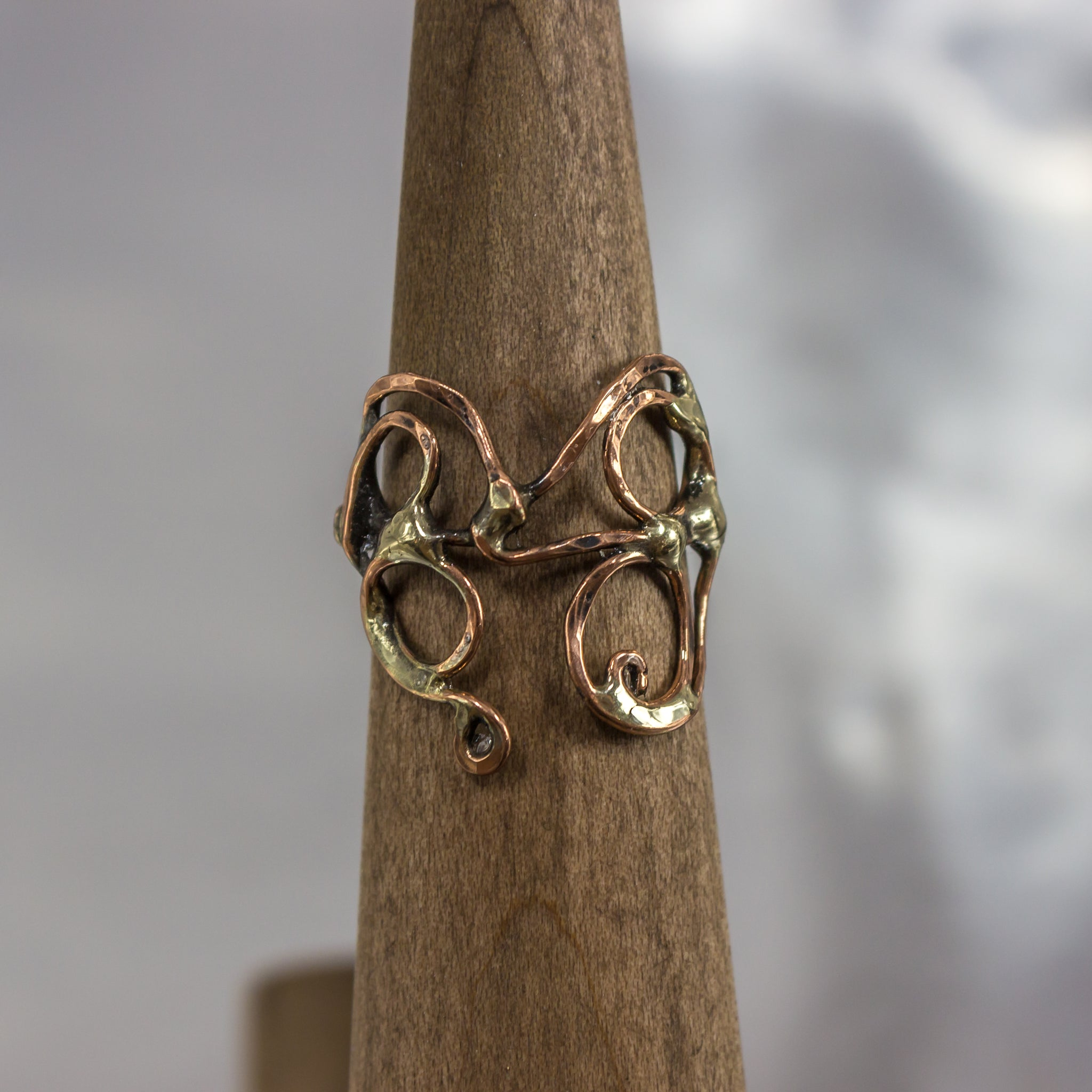 Organic Wire Wrap Ring 1