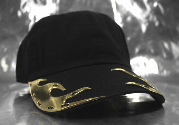 Brass Golden Flame Hat