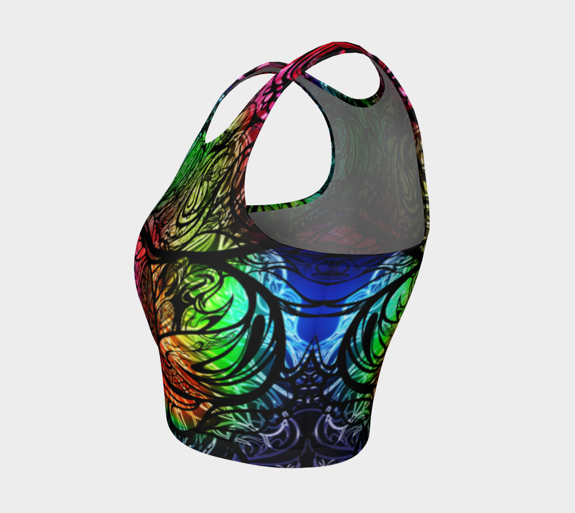 Zen Doodle Chromatic Chaos Crop Top
