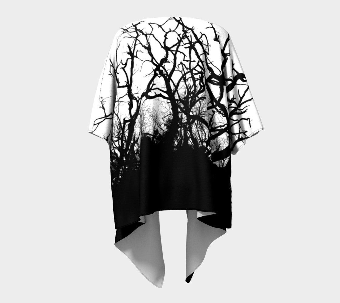 Dead Tree Black Roots Draped Kimono