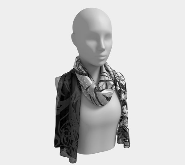 Zen Doodle Chaotic Mess Scarves Dual Sided Print