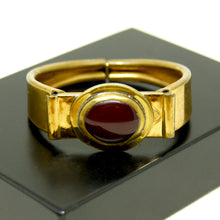 Load image into Gallery viewer, Rafael Canada Clamper Bracelet - Burgundy Glass