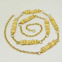 Load image into Gallery viewer, Robert Larin Chain Necklace - Golden Brutalist Pillars