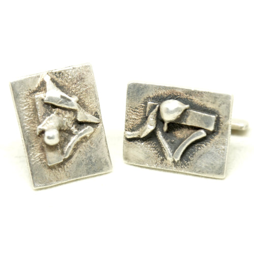 Rare George Dancy Cufflinks - Ontario Canadian Modernist