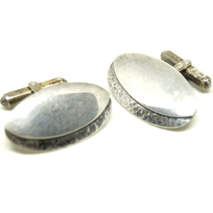 Rare George Brooks Cufflinks - Sterling Silver - Quebec Modernist