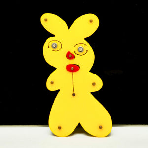 Rare Thomas Mann Pin - Yellow Rabbit - One of a Kind