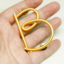 "Load image into Gallery viewer, Martha Sturdy Letter ""B"" Brooch - Matte Gold"
