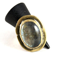 Rafael Alfandary Ring - Moon Glass - Brass