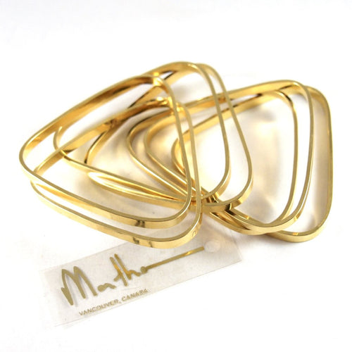 Martha Sturdy Bangle Set - Triangular - Post Modern