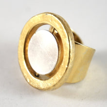 Jacob Hull Ring - Modernist - Gold Silver - Size 6.25