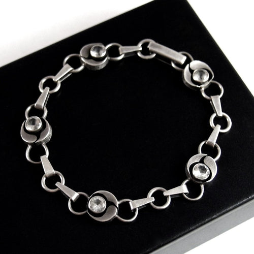 Sten & Laine Bracelet - Sterling - Rock Crystal - Modernist