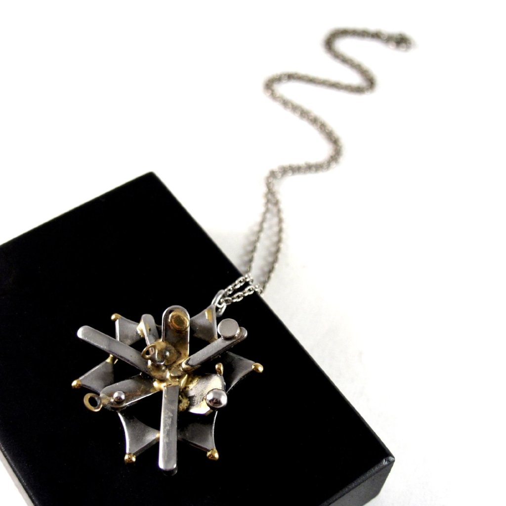 Richard Bitterman Necklace - Brutalist Mixed Metals - Star of David