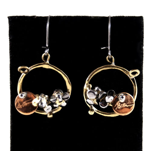 Richard Bitterman Earrings - Brutalist Mixed Metals