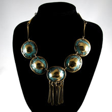Load image into Gallery viewer, Bold Joseph Boris Necklace - Verdigris - Modernist