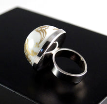 Load image into Gallery viewer, Porsgrund Norway Ring - Porcelain Sterling - Modernist