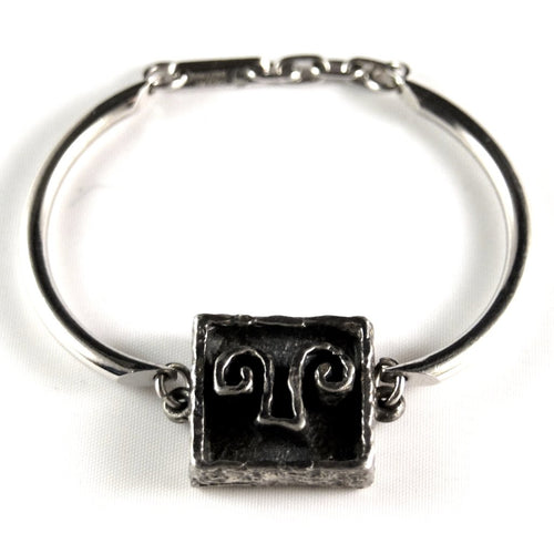Guy Vidal Bracelet - Abstract Charm Bangle - Modernist