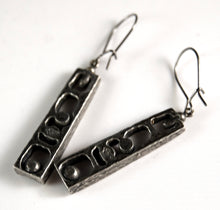 Load image into Gallery viewer, Guy Vidal Shadow Box Earrings - Modernist Brutalist