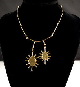 Rare Anne Dick Necklace - Sun Burst - Modernist