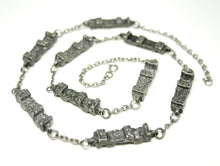 Robert Larin Chain Necklace - Brutalist Pillars