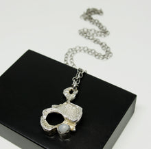 Load image into Gallery viewer, Rare Iceland Brutalist Necklace - Hansina Jens - Modernist