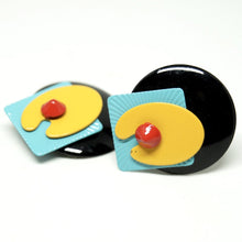 Load image into Gallery viewer, Eve Kaplin Earrings - Memphis Design - Sottsass