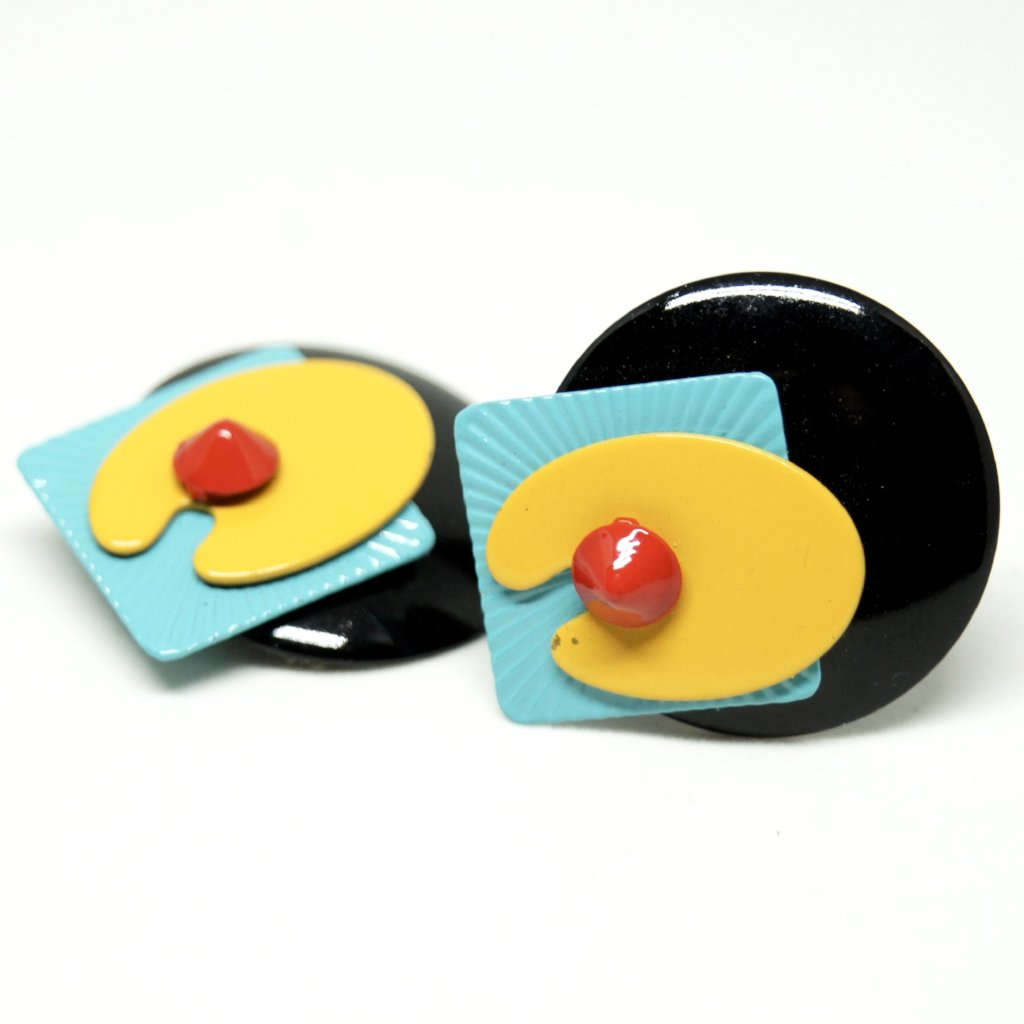 Eve Kaplin Earrings - Memphis Design - Sottsass
