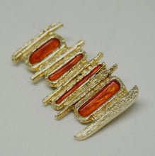 Rare Robert Larin Enamel Brooch - Orange
