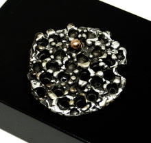 Load image into Gallery viewer, Robert Larin Textural Sphere Brooch- Brutalist