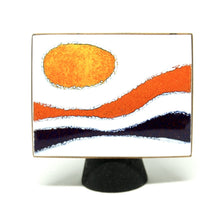 Early de Passille Sylvestre Enamel Brooch - Modernist Sunset
