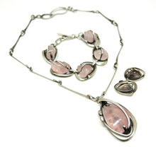 Load image into Gallery viewer, Maxwell Chayat Necklace - American Modernist - Rose Quartz