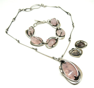 Maxwell Chayat Necklace - American Modernist - Rose Quartz