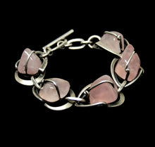 Load image into Gallery viewer, Maxwell Chayat Bracelet - American Modernist - Rose Quartz
